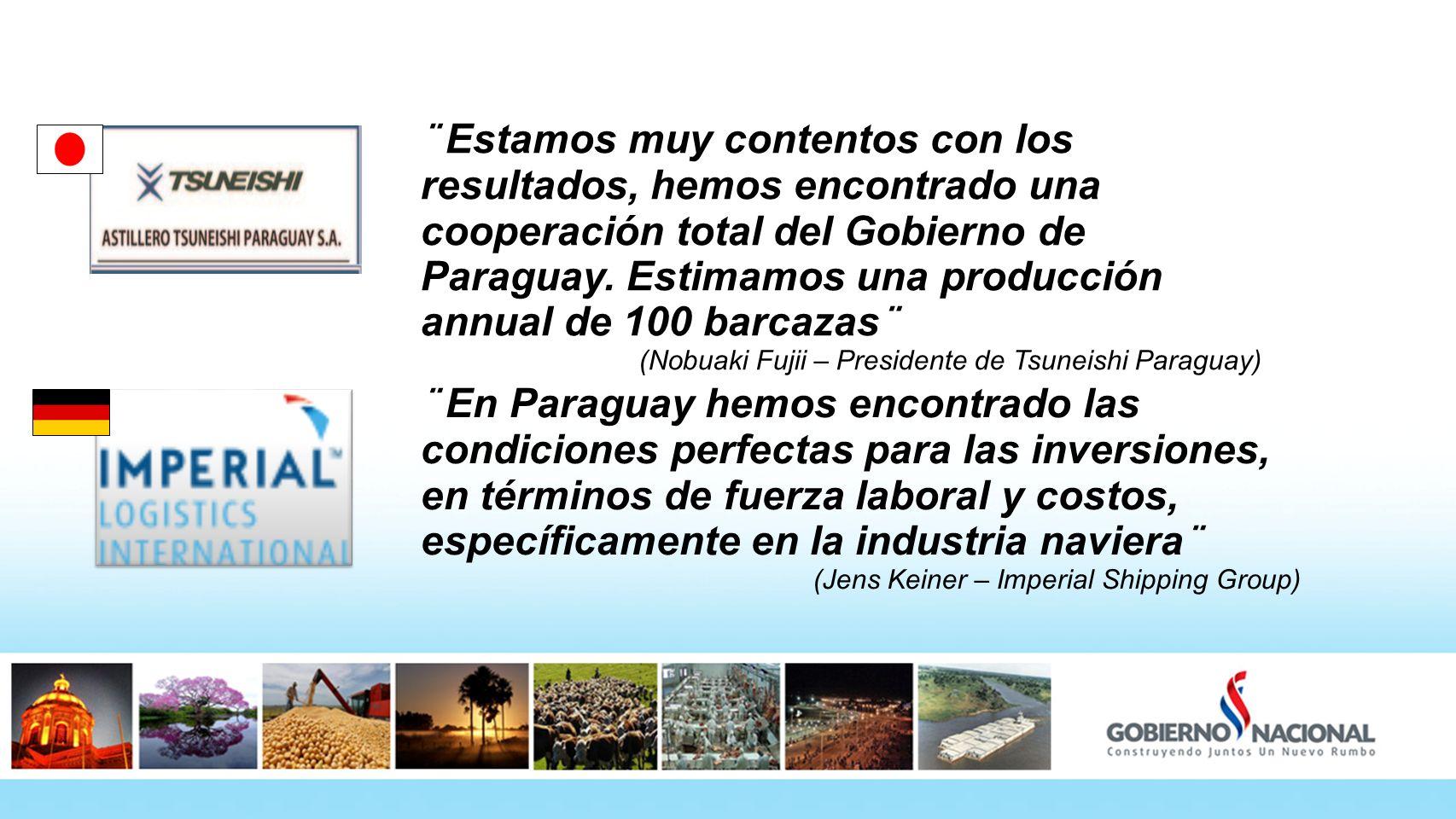 ¨ Estamos muy contentos con los resultados, hemos encontrado una cooperación total del Gobierno de Paraguay. Estimamos una producción annual de 100 ba