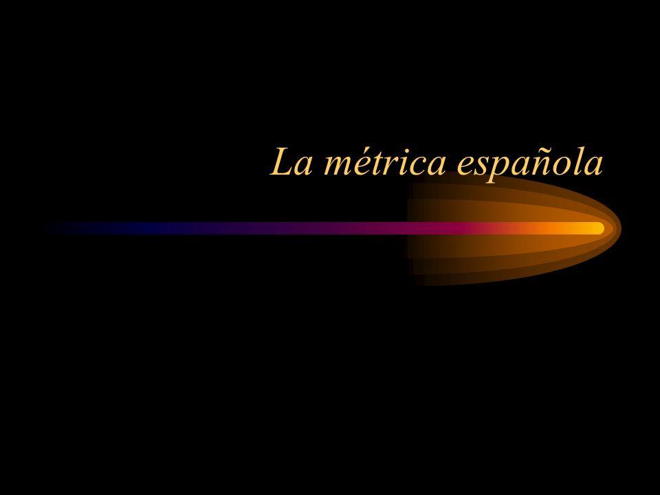 La métrica española