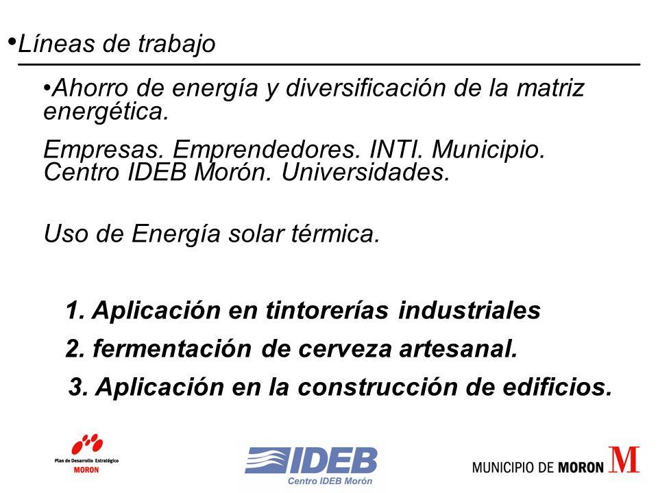 Ahorro de energía y diversificación de la matriz energética.