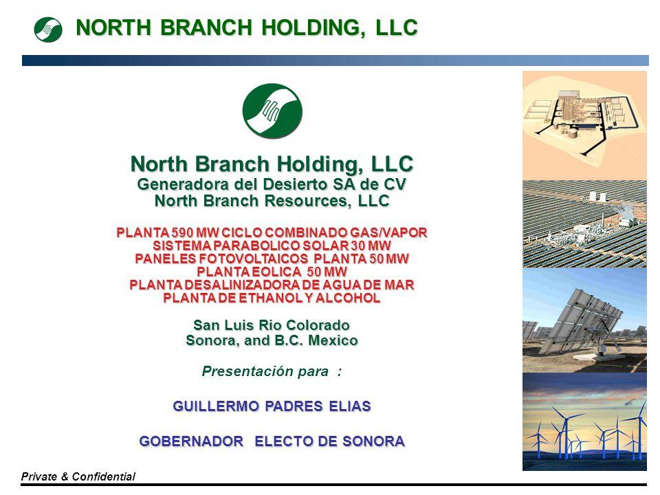 NORTH BRANCH HOLDING, LLC Private & Confidential North Branch Holding, LLC Generadora del Desierto SA de CV North Branch Resources, LLC PLANTA 590 MW
