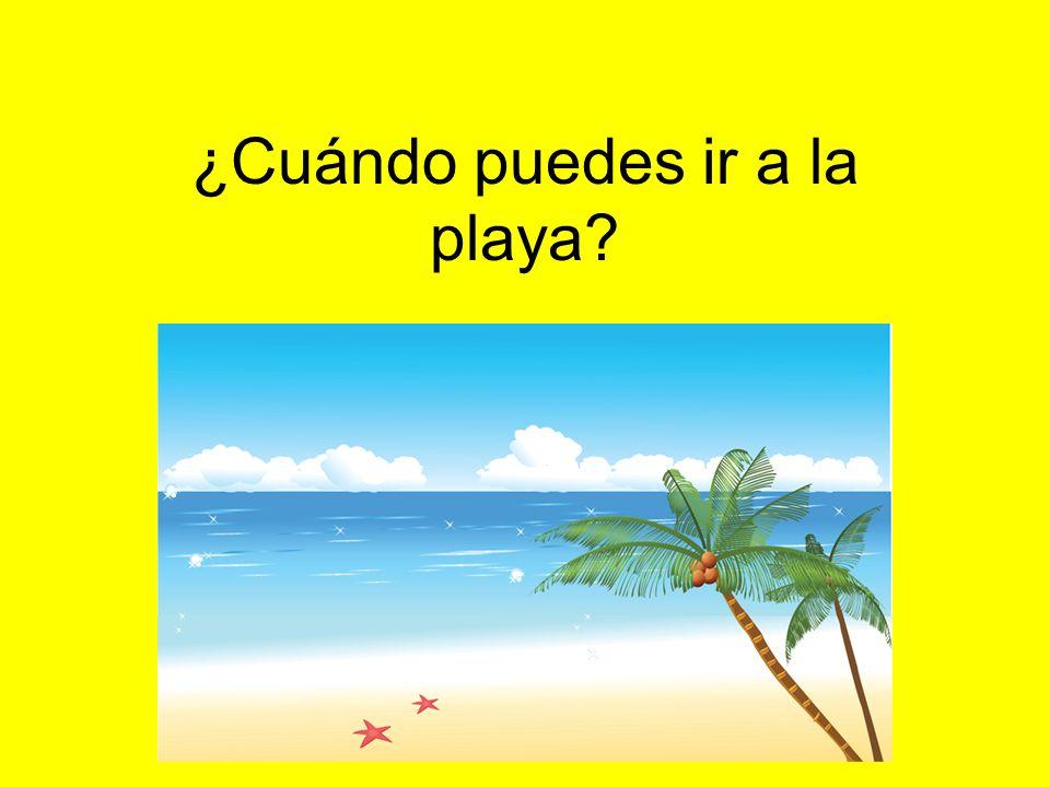 ¿Cuándo puedes ir a la playa?