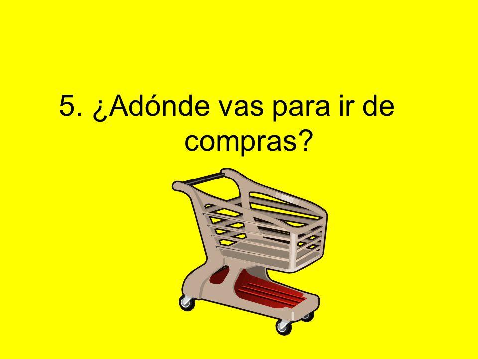 5. ¿Adónde vas para ir de compras?