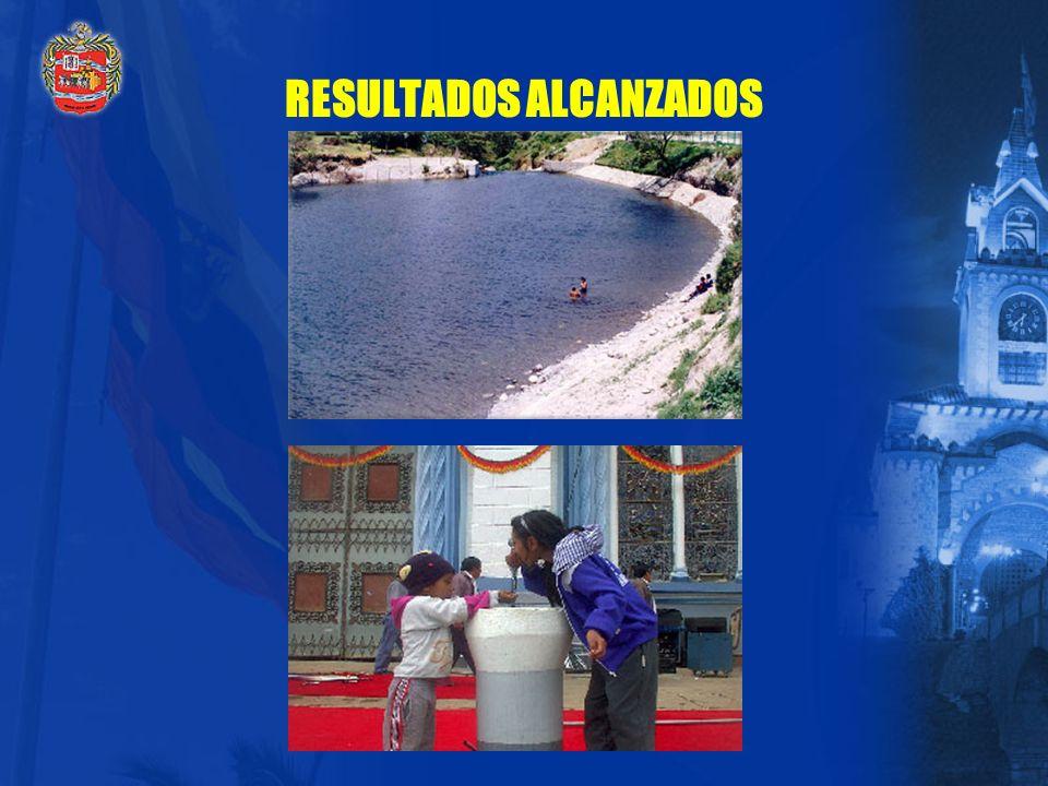 RESULTADOS ALCANZADOS Se garantiza un servicio eficiente y eficaz; es así que se han mejorado las condiciones de vida de la población, pues en la ciud
