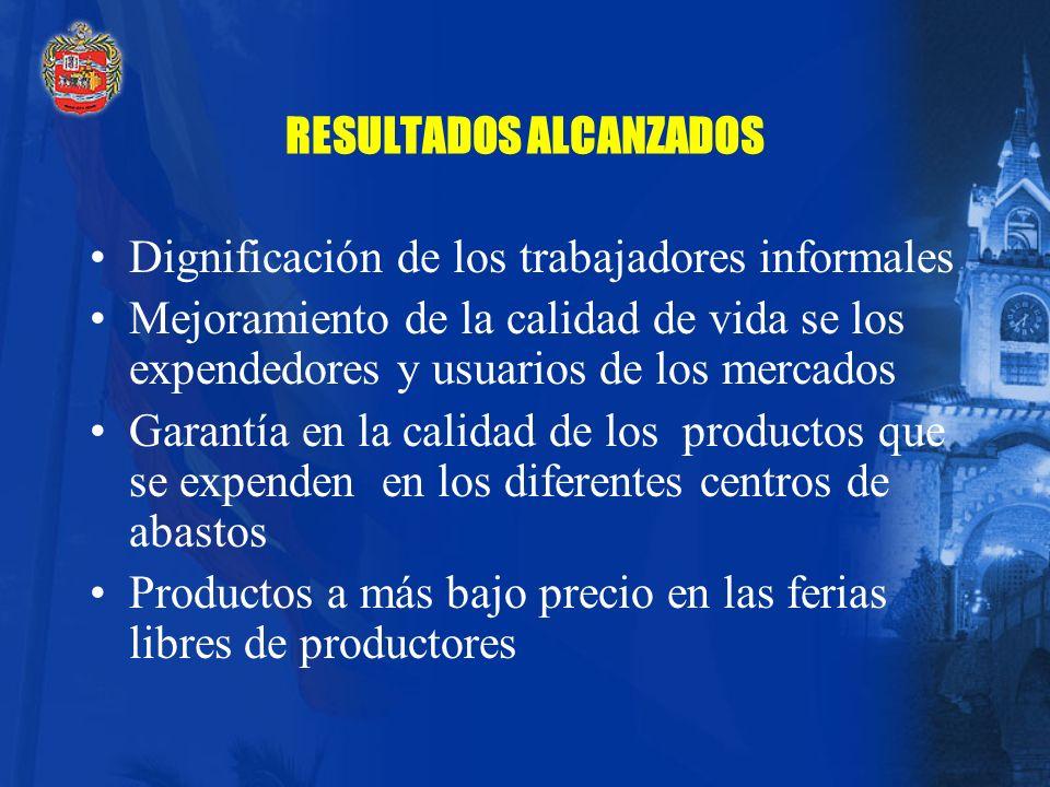 5. Sistema de Abastos y Mercados - Ferias Libres de Productores ACCIONES Readecuación de la infraestructura de mercados Implementación del los Program