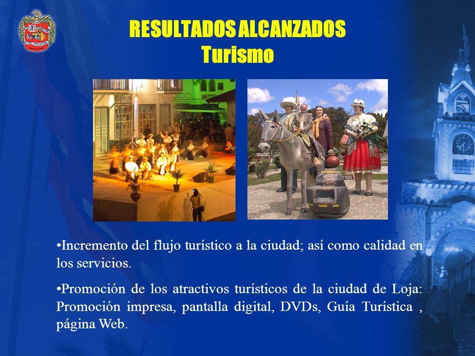 RESULTADOS ALCANZADOS Seguridad Urbana Defensa contra incendios. Seguridad barrial. Seguridad ciudadana. Seguridad en centros de abastos.