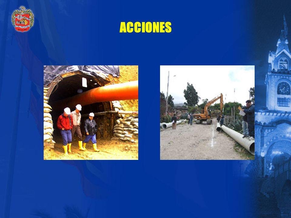 ACCIONES La planta el Carigán es la más moderna de Sudamérica. Completamente automatizada( 500 litros por segundo)