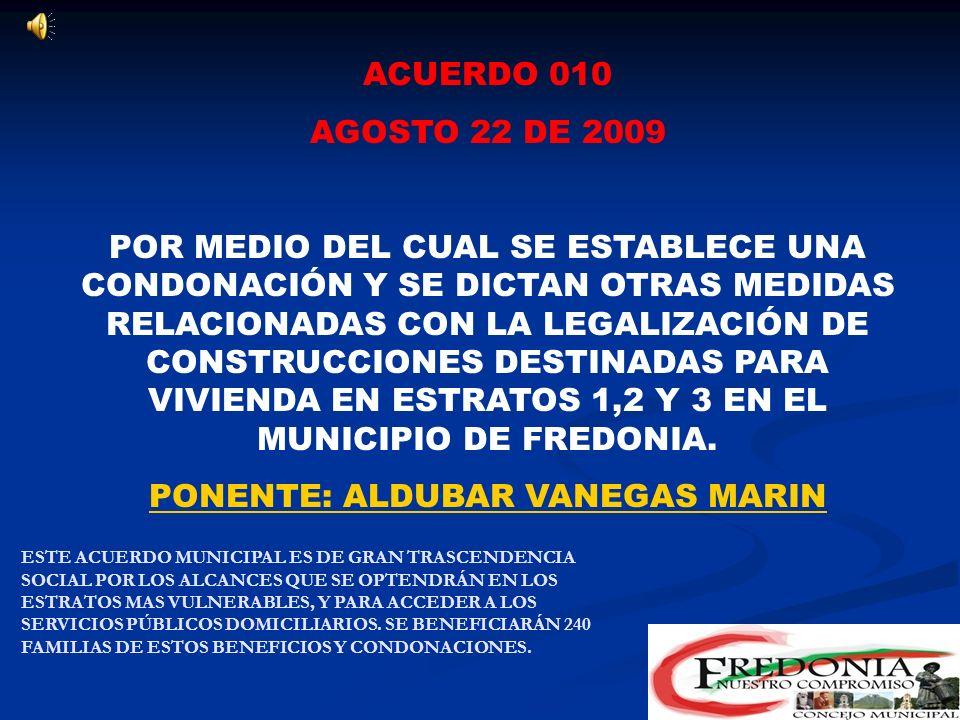 ACUERDO 009 AGOSTO 18 DE 2009 POR MEDIO DEL CUAL SE ESTABLECE EL 9 DE MAYO COMO EL DIA DEL FOMENTO A LA LECTURA EN EL MUNICIPIO DE FREDONIA. PONENTE: