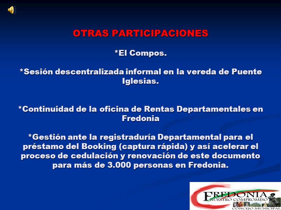 INFORMACIÓN Y COMUNICACIÓN *Boletines informativos del Concejo. *trabajo de la comisión de la gaceta del Concejo *Informes semanales por RCN y Cerros