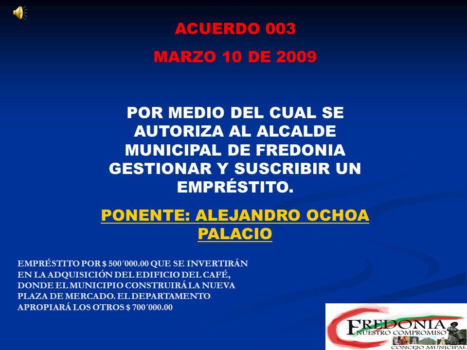 ACUERDO 002 DEL 24 DE FEBRERO DE 2009 POR MEDIO DEL CUAL SE INSTITUCIONALIZA EL PREMIO DE POESIA DARIO HENAO TORRES. PONENTE: CARLOS MARIO MESA DIEZ E