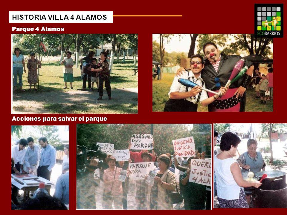 Parque 4 Álamos Acciones para salvar el parque HISTORIA VILLA 4 ALAMOS