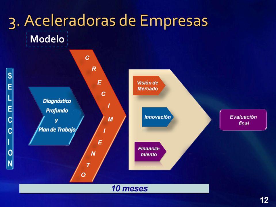 12 3. Aceleradoras de Empresas Modelo