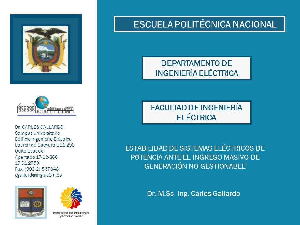 2012 32Escuela Politécnica Nacional Dr.