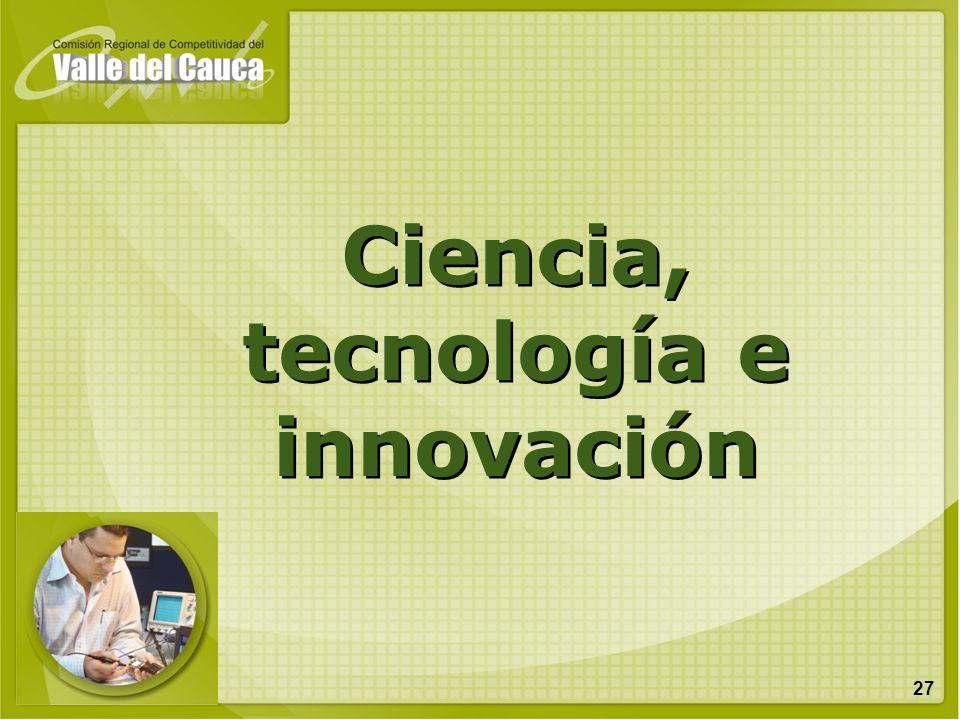 27 Ciencia, tecnología e innovación