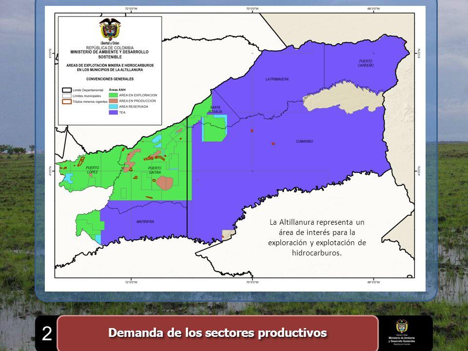 La Altillanura representa un área de interés para la exploración y explotación de hidrocarburos. Demanda de los sectores productivos 2