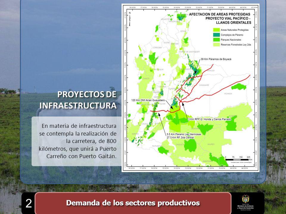 PROYECTOS DE INFRAESTRUCTURA En materia de infraestructura se contempla la realización de la carretera, de 800 kilómetros, que unirá a Puerto Carreño