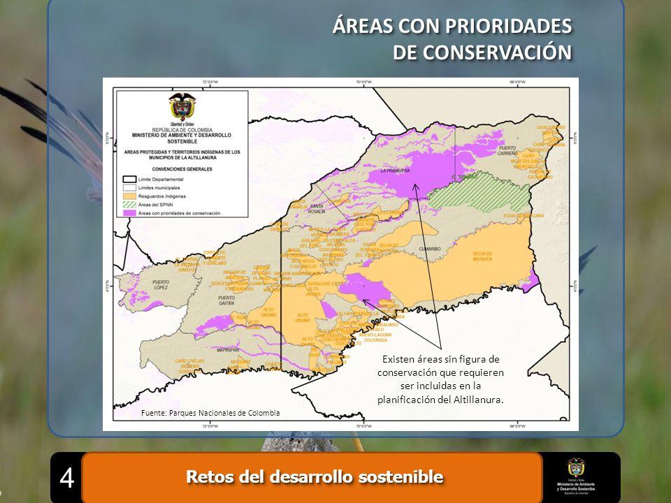 ÁREAS CON PRIORIDADES DE CONSERVACIÓN ÁREAS CON PRIORIDADES DE CONSERVACIÓN Fuente: Parques Nacionales de Colombia Existen áreas sin figura de conserv