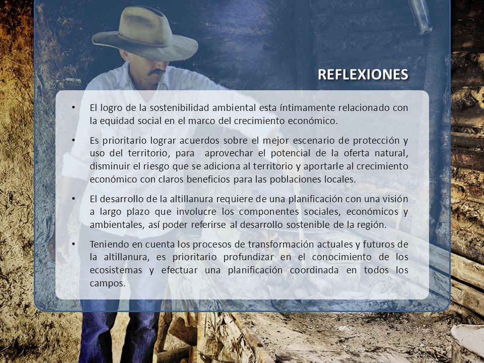 REFLEXIONESREFLEXIONES El logro de la sostenibilidad ambiental esta íntimamente relacionado con la equidad social en el marco del crecimiento económic