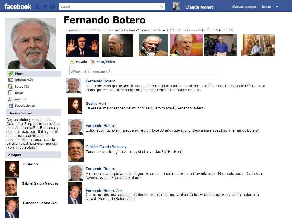 Fernando Botero No puedo creer que acabo de ganar el Premio Nacional Guggenheim para Colombia. Estoy tan feliz. Gracias a todos que estuvieron conmigo