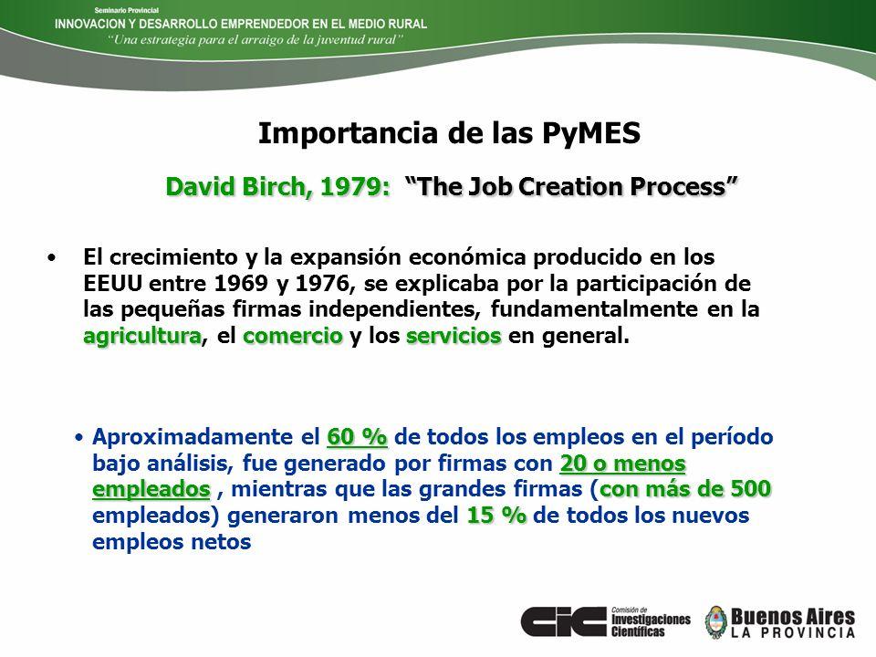 Importancia de las PyMES agriculturacomercioserviciosEl crecimiento y la expansión económica producido en los EEUU entre 1969 y 1976, se explicaba por
