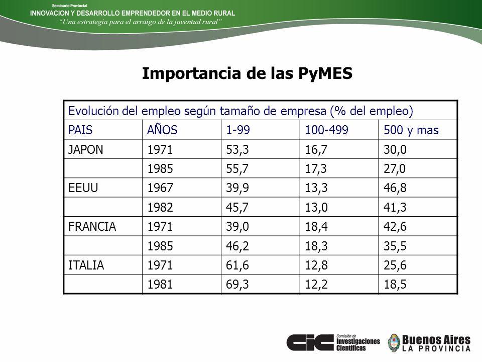 PROGRAMA PROVINCIAL DE APOYO A LAS INCUBADORAS DE EMPRESAS, PARQUES Y POLOS TECNOLÓGICOS Una primer respuesta….
