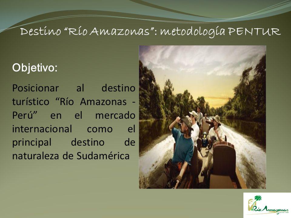 Objetivo: Posicionar al destino turístico Río Amazonas - Perú en el mercado internacional como el principal destino de naturaleza de Sudamérica Destin