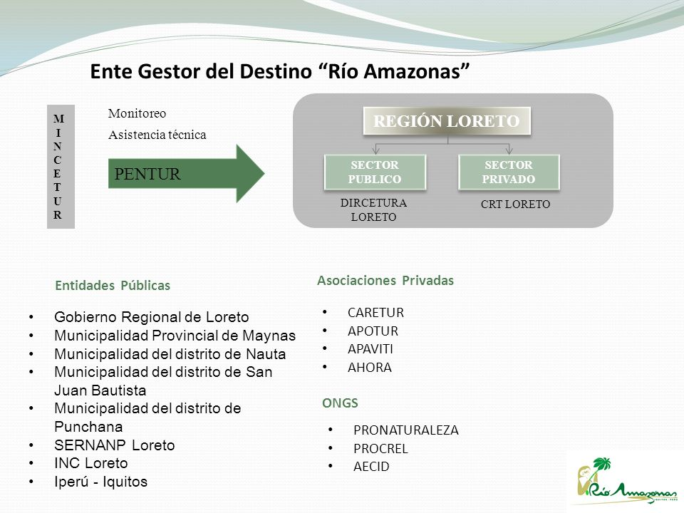Gobierno Regional de Loreto Municipalidad Provincial de Maynas Municipalidad del distrito de Nauta Municipalidad del distrito de San Juan Bautista Mun