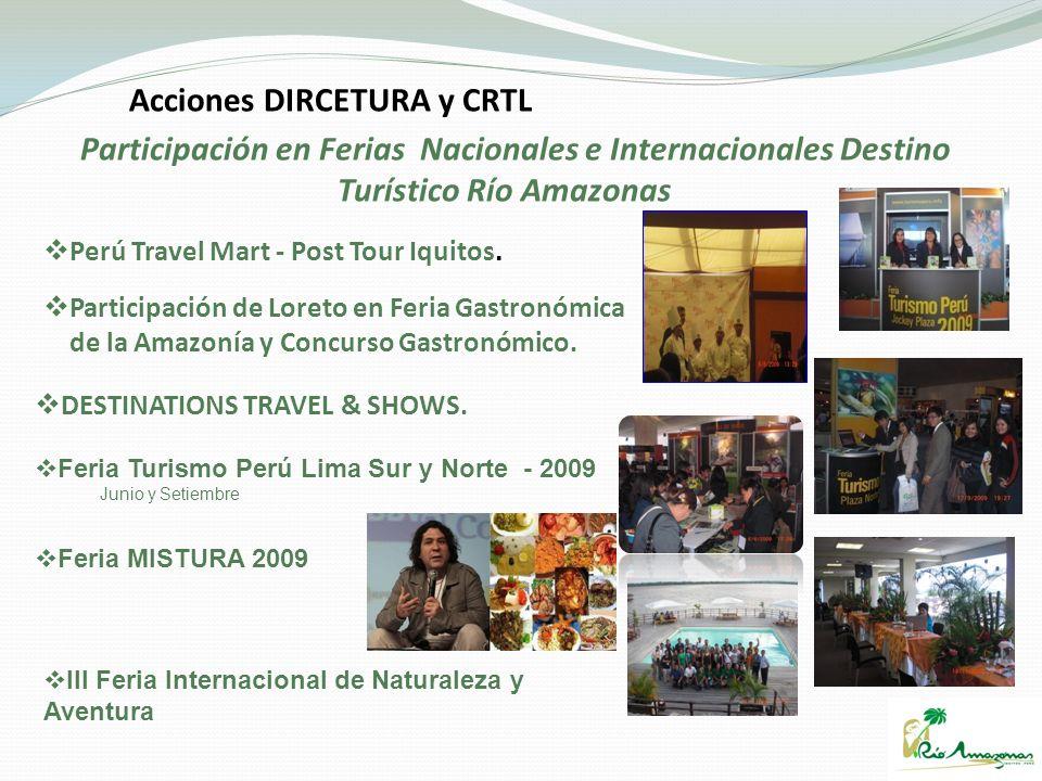 Perú Travel Mart - Post Tour Iquitos. Participación de Loreto en Feria Gastronómica de la Amazonía y Concurso Gastronómico. DESTINATIONS TRAVEL & SHOW