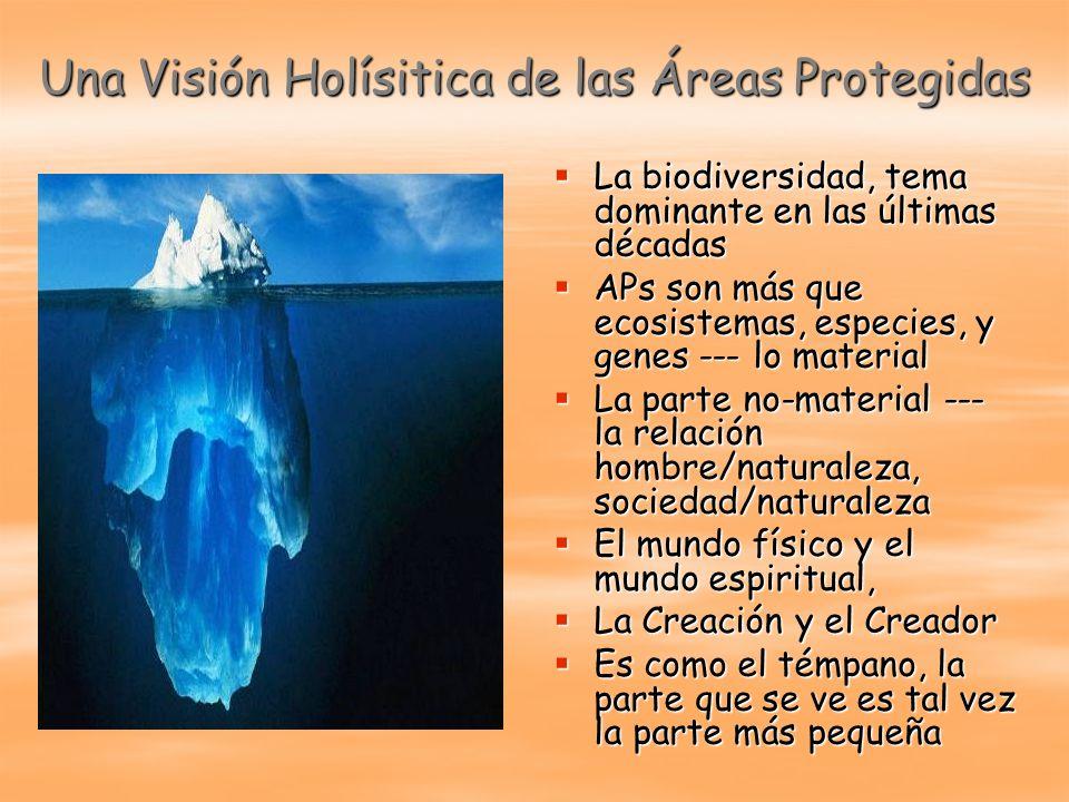 Una Visión Holísitica de las Áreas Protegidas La biodiversidad, tema dominante en las últimas décadas La biodiversidad, tema dominante en las últimas
