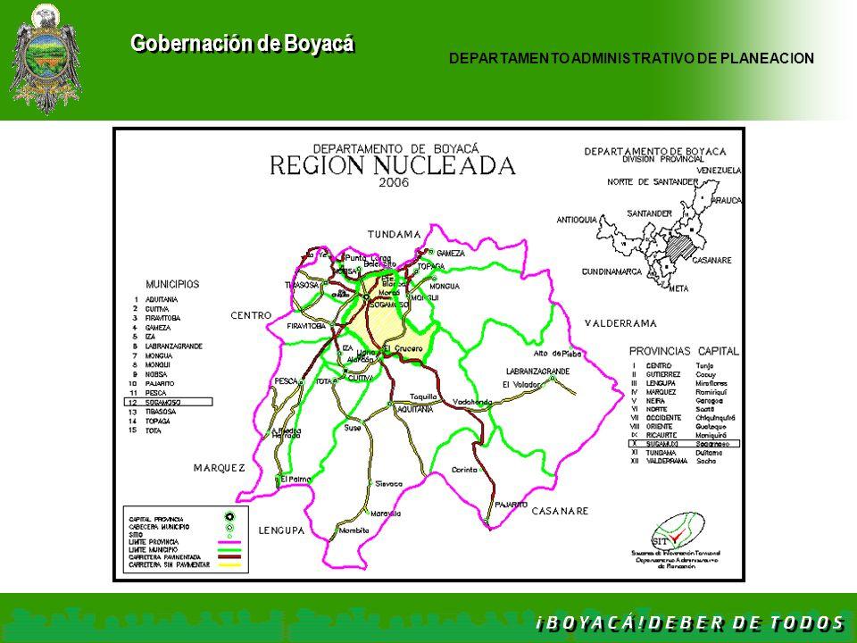 Gobernación de Boyacá DEPARTAMENTO ADMINISTRATIVO DE PLANEACION