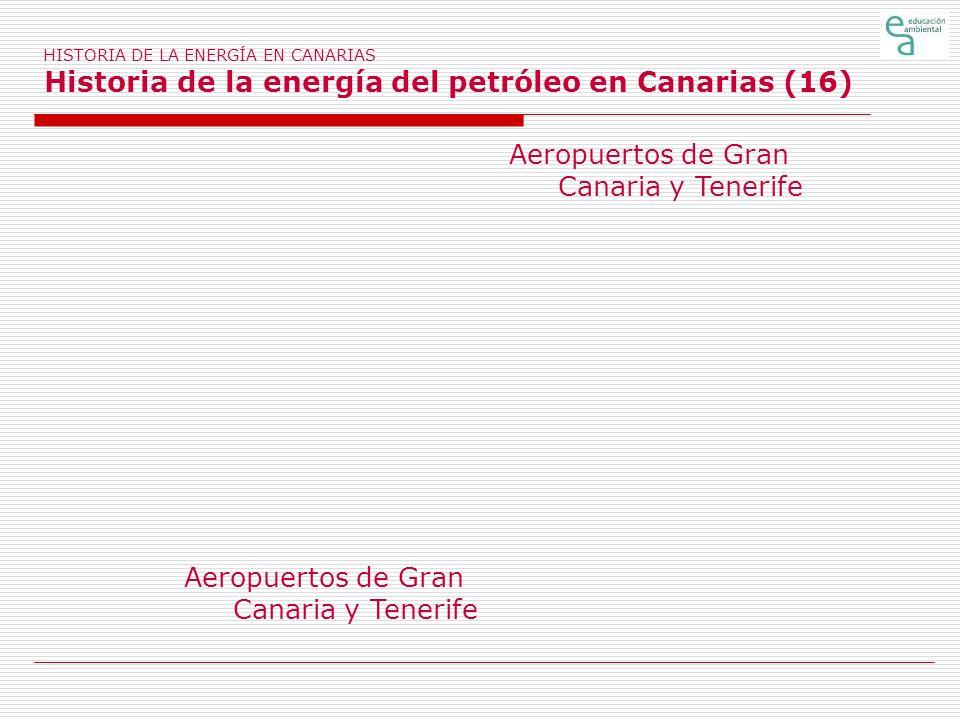 HISTORIA DE LA ENERGÍA EN CANARIAS Historia de la energía del petróleo en Canarias (16) Aeropuertos de Gran Canaria y Tenerife