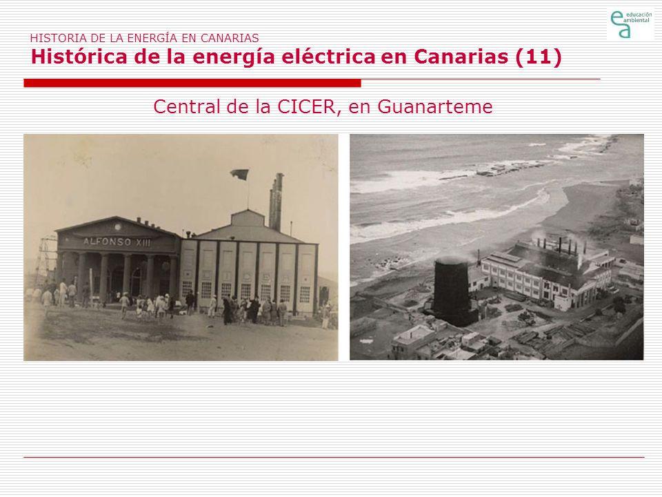 HISTORIA DE LA ENERGÍA EN CANARIAS Histórica de la energía eléctrica en Canarias (11) Central de la CICER, en Guanarteme