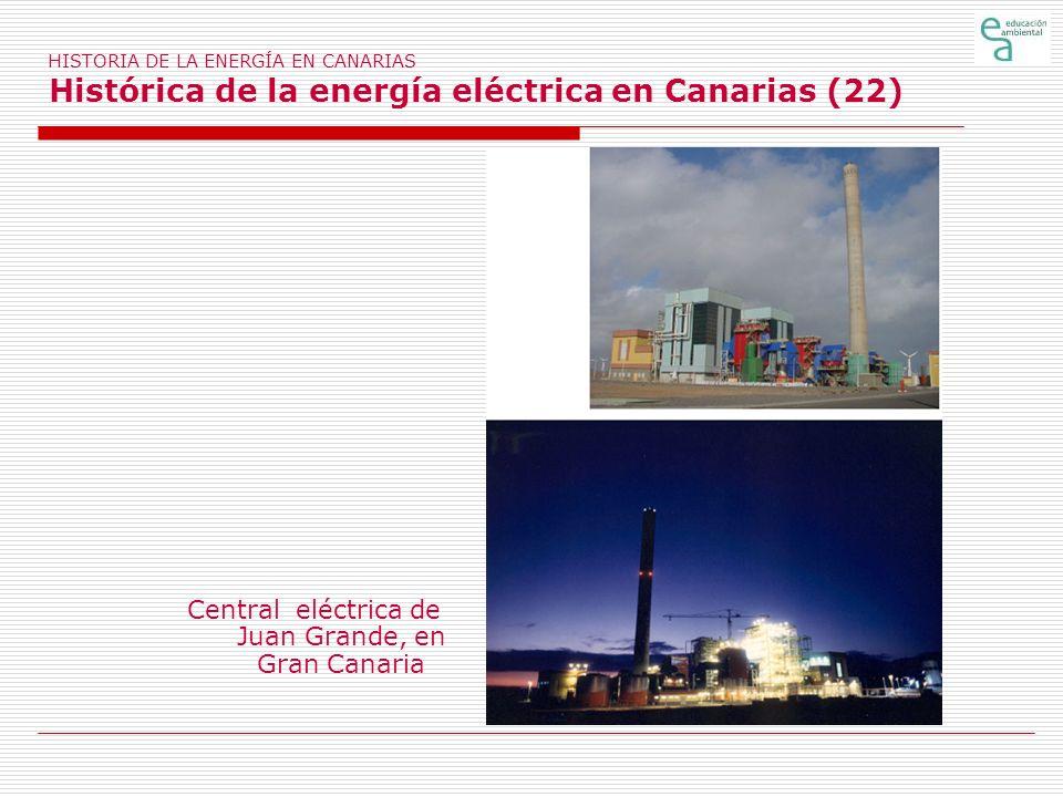 HISTORIA DE LA ENERGÍA EN CANARIAS Histórica de la energía eléctrica en Canarias (22) Central eléctrica de Juan Grande, en Gran Canaria