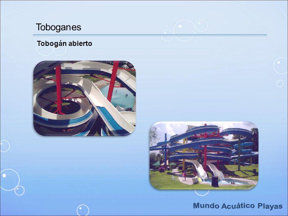Tobogán abierto Toboganes