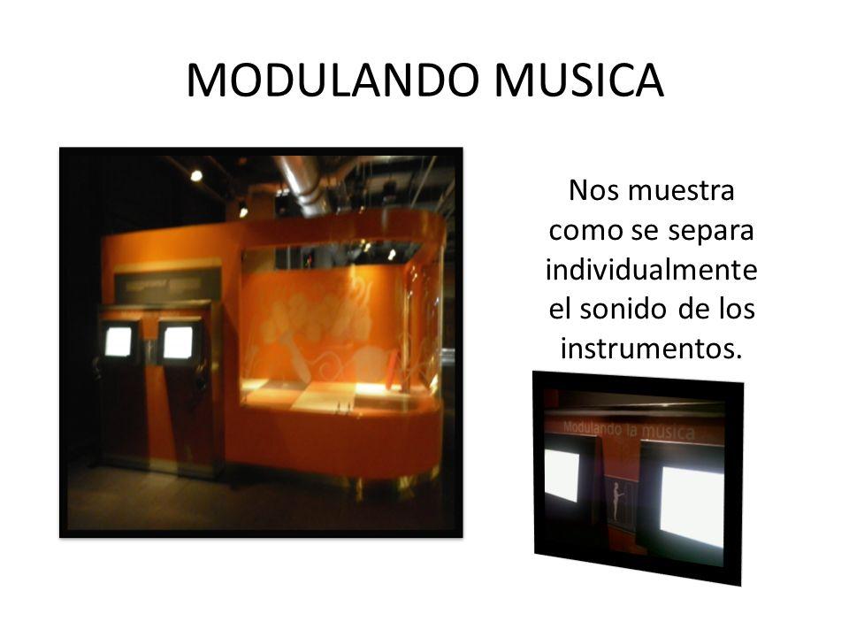 MODULANDO MUSICA Nos muestra como se separa individualmente el sonido de los instrumentos.