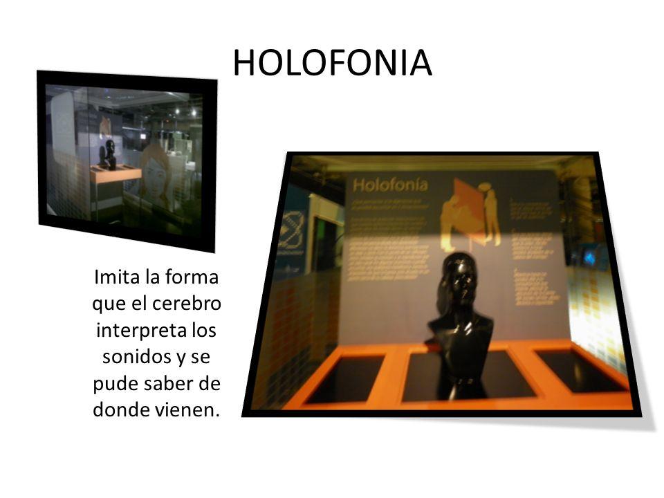HOLOFONIA Imita la forma que el cerebro interpreta los sonidos y se pude saber de donde vienen.