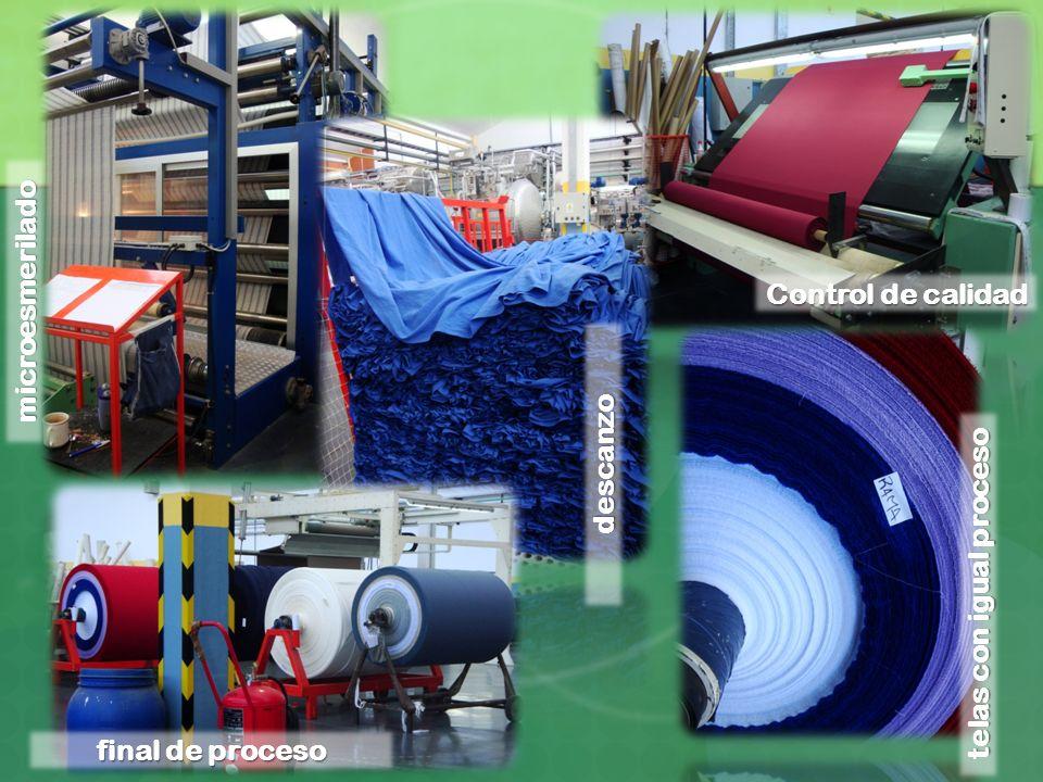microesmerilado Control de calidad descanzo telas con igual proceso final de proceso
