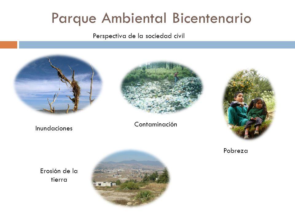 Inundaciones Erosión de la tierra Pobreza Contaminación Parque Ambiental Bicentenario Perspectiva de la sociedad civil