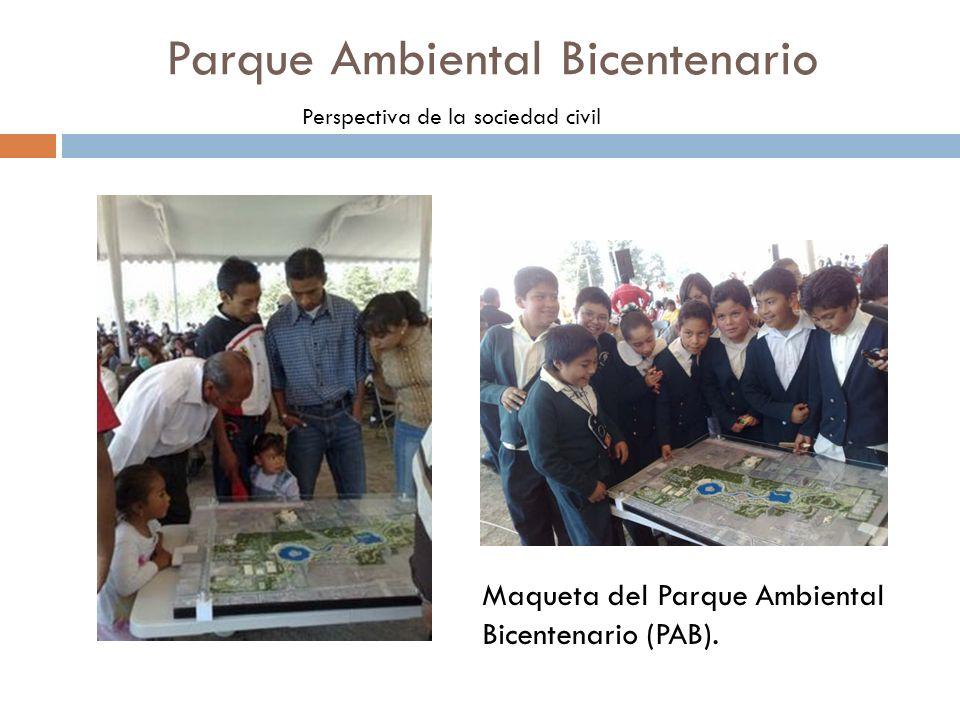 Parque Ambiental Bicentenario Perspectiva de la sociedad civil Comunicación a través de los medios convencionales e internet, visto este último como el nuevo espacio público para manifestarse.