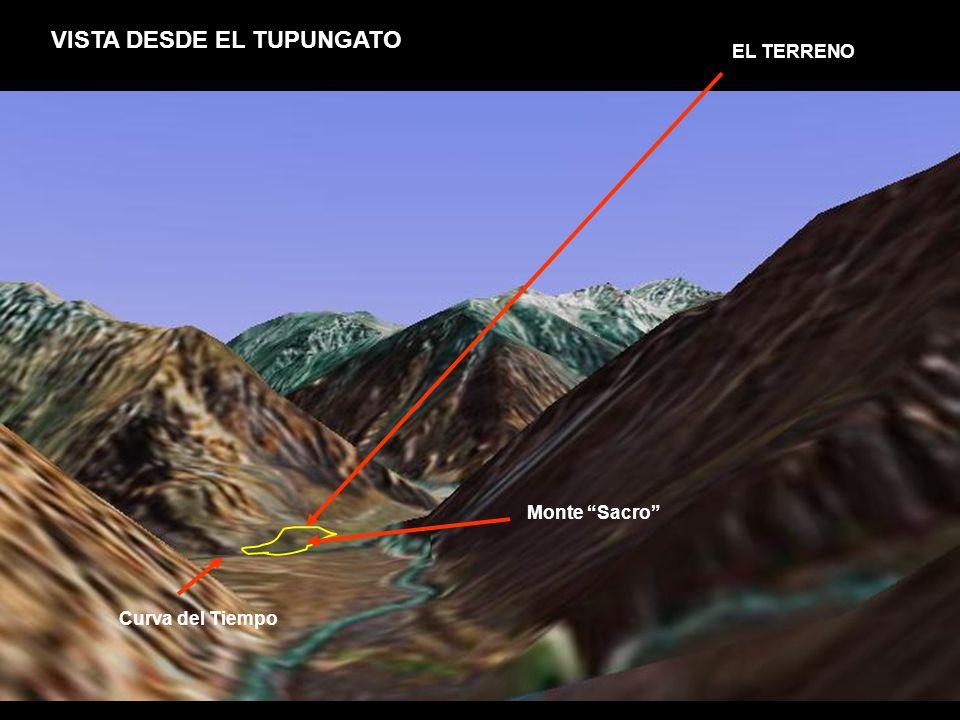 VISTA DESDE EL TUPUNGATO EL TERRENO Monte Sacro Curva del Tiempo