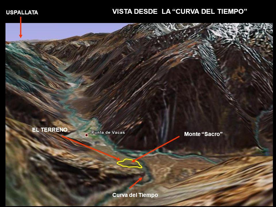 VISTA DESDE LA CURVA DEL TIEMPO EL TERRENO Monte Sacro Curva del Tiempo USPALLATA