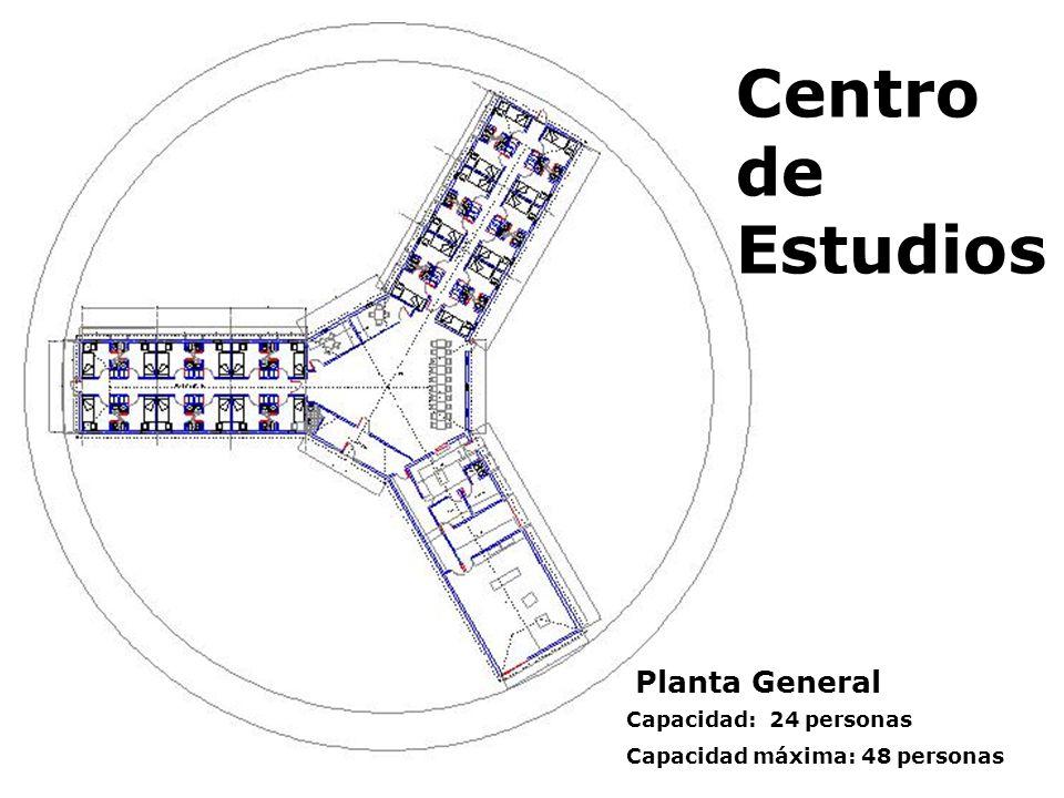Centro de Estudios Planta General Capacidad: 24 personas Capacidad máxima: 48 personas