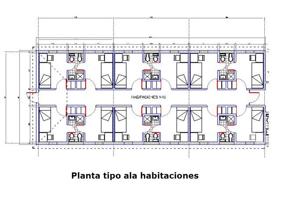 Planta tipo ala habitaciones