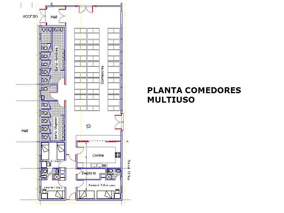 PLANTA COMEDORES MULTIUSO