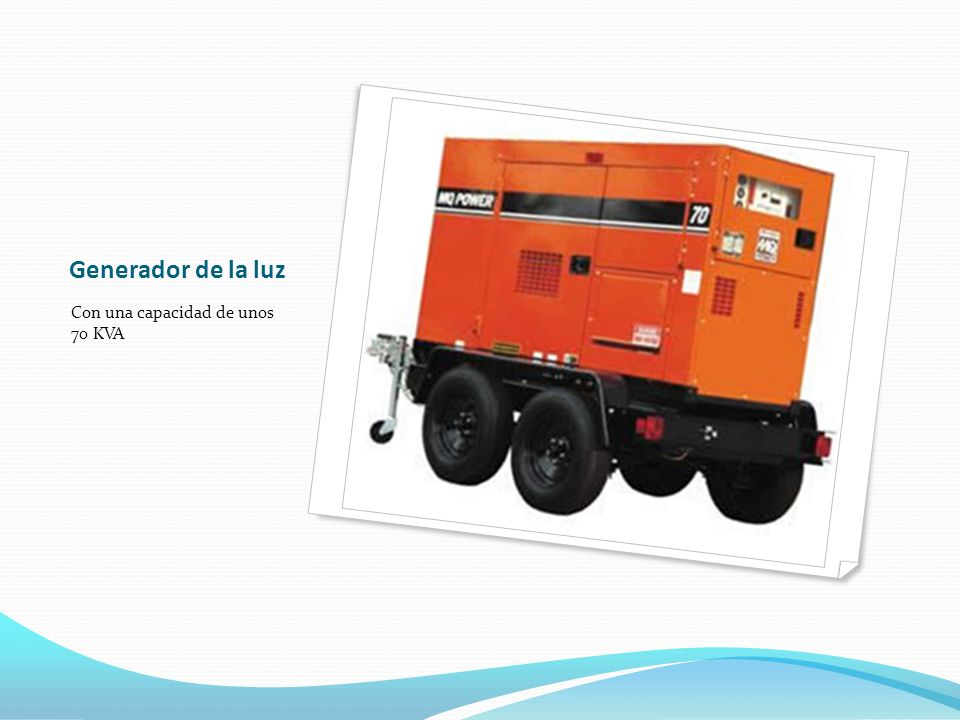 Generador de la luz Con una capacidad de unos 70 KVA