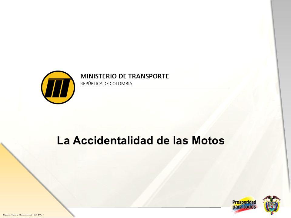 Elaboró: Pablo A. Montenegro G. – UCP SITM Razón muertes / lesiones Razón muerte-lesiones 1/9
