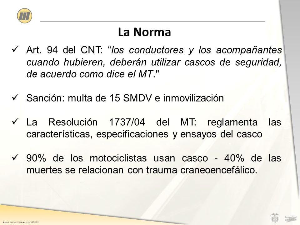 Elaboró: Pablo A. Montenegro G. – UCP SITM La Norma Art.