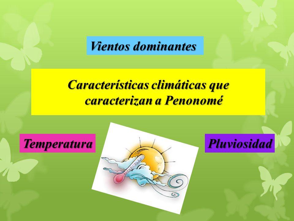 Características climáticas que caracterizan a Penonomé TemperaturaPluviosidad Vientos dominantes