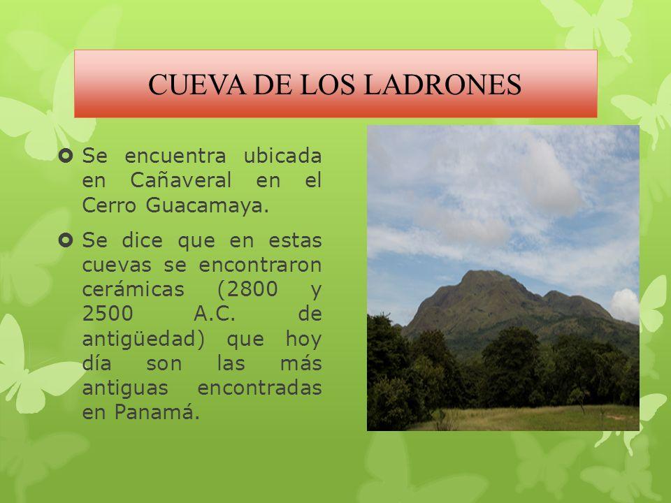 CUEVA DE LOS LADRONES Se encuentra ubicada en Cañaveral en el Cerro Guacamaya.