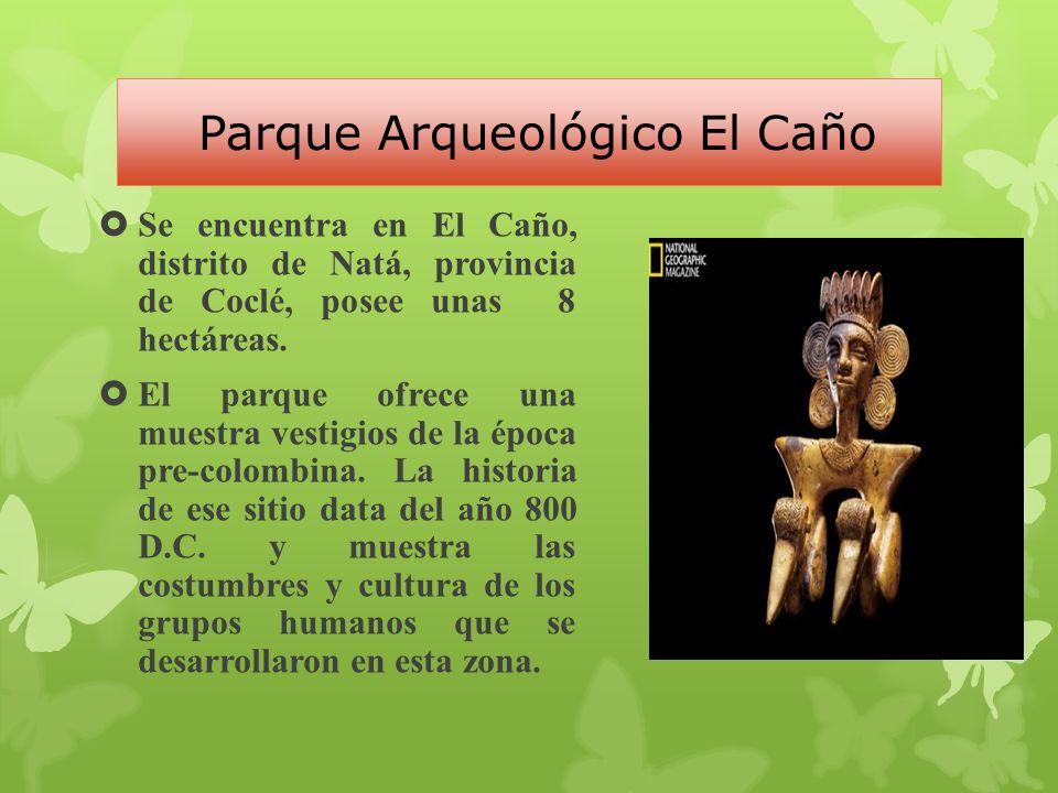 Parque Arqueológico El Caño Se encuentra en El Caño, distrito de Natá, provincia de Coclé, posee unas 8 hectáreas.