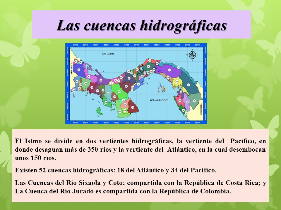 Principales cuencas hidrográficas de Panamá